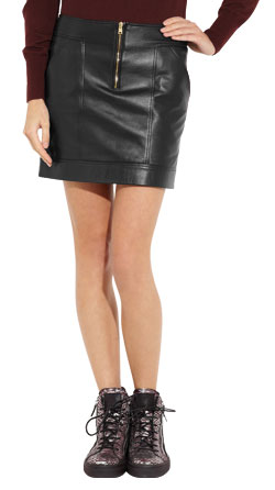 Mini Skirt with Front Slit Pockets