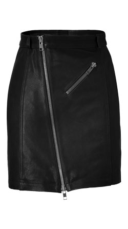 Rocker and Chic Womens Leather Skirt