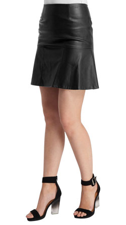 Pleated Leather Sultry Skirt