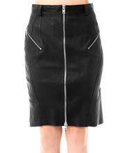 ruffled-back-and-zipped-leather-skirt