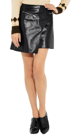 Kilt Style Leather Skirt