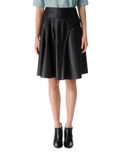 flare-shutter-pleat-leather-skirt