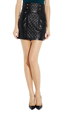 Sharp short zipper skirt