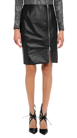 Luxe Zip Leather Skirt