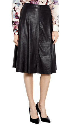 Dainty Midi Leather Skirt