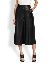 chic-fit-and-flair-high-waist-leather-culottes