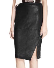 subtle-and-stylish-asymmetrical-front-wrap-leather-skirt