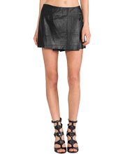 trendy-leather-skort-with-a-wrap-pattern