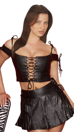 Drop-dead gorgeous looking hot leather wears for women