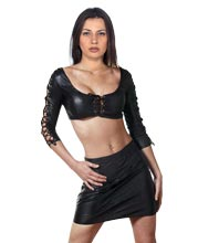 Lace Tied Hot Leather Wear for Women
