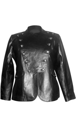 Military Style Inspired Leather Jacket
