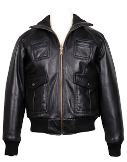 Knitted Leather Jacket for Kids