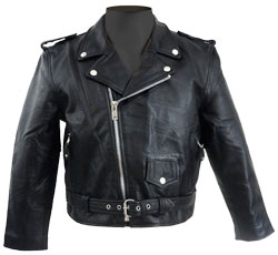 Snap-down Leather Jacket for Kids